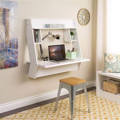 white desk for room 8 wall mounted desks that save room in small spaces