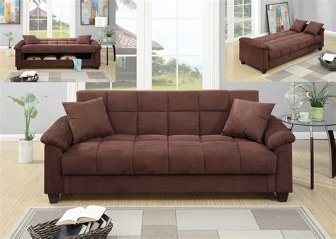 Chocolate Color Sofa by F7889 Bk14 P25 Adjustable Sofa W Flip Up Compartment