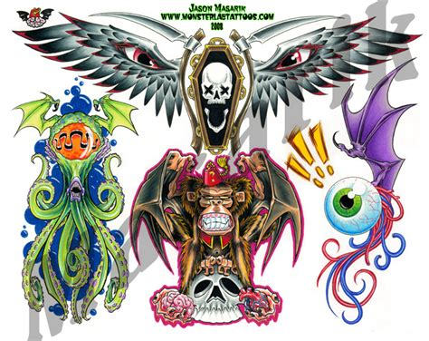 tattoo flash art sheets tattoo flash sheet 9 by jasonmas on deviantart