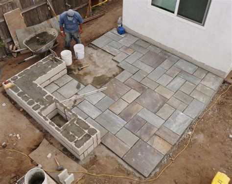 building pit and patio flagstone wilson environmental contracting