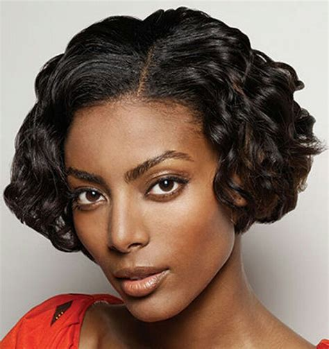 very short hair styles with center part short bob hair style for curly black women latest hair
