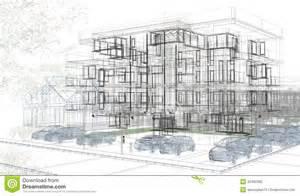 design build architecture exterior building wireframes design rendering