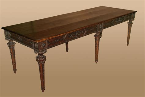 Antique Library Table by Italian Neoclassical Period Library Table For