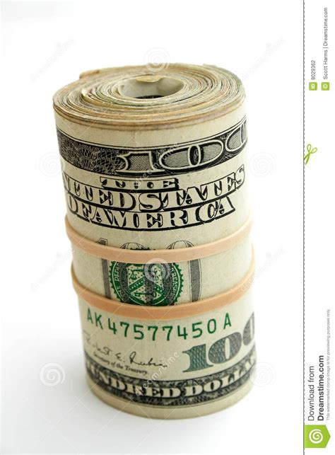 money roll stock photo image of paper denomination