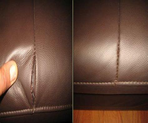 ink on leather couch ripped scratched leather repair service before and after