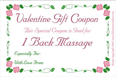 printable back rub gift certificates printable love coupons template new calendar template site