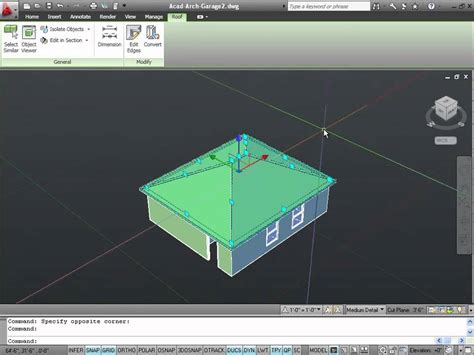 how to design a 3d house in autocad drawing 3d roofs with autocad architecture youtube