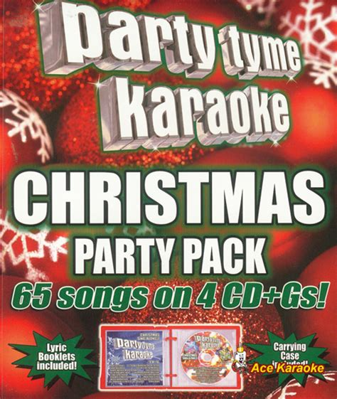 party tyme karaoke cdg christmas party pack
