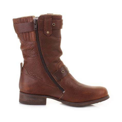 cat boots for womens cat caterpillar midi peanut mid calf ankle biker