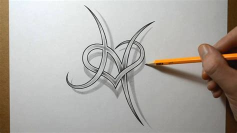 letter h with a heart combined tattoo design by jsharts on