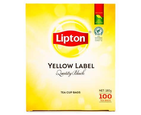 Lipton Yellow Label 100 Sachet 10 x lipton yellow label black tea 100pk great daily deals at australia s favourite superstore