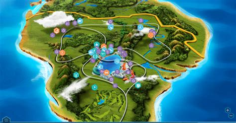 layout jurassic world the game park map