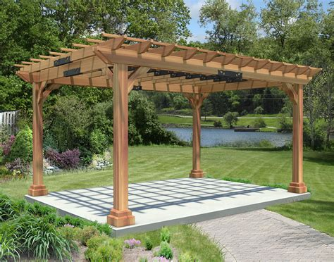 Red Cedar Garden Pergola Pergola Post Base