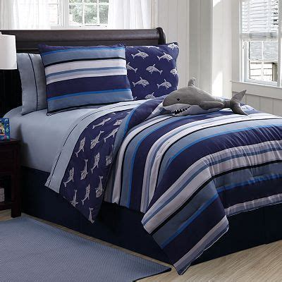 kohls reversible comforter reversible blue stripe and shark bedding shark ideas