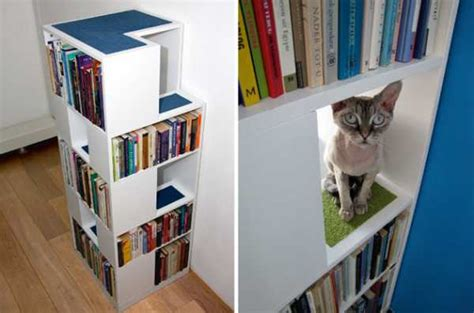 catcase cat tree design with book shelves diy modern cat