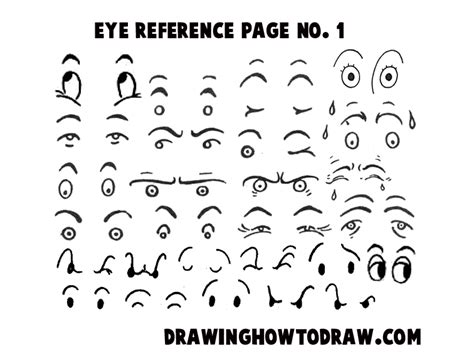 printable how to draw eyes drawing cartoon illustrated eyes reference sheets how