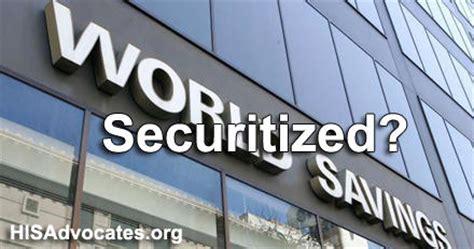 world bank loans world savings bank loans were securitized before wachovia