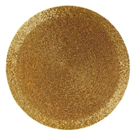 Beaded Place Mats by Gold Beaded Placemat