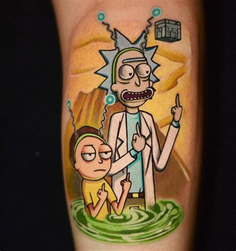 rick and morty tattoo 2903 best best tattoos images on amazing