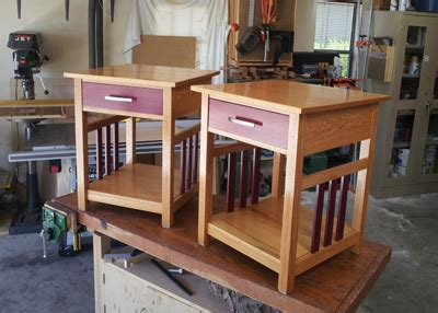night stand set woodworking blog  plans