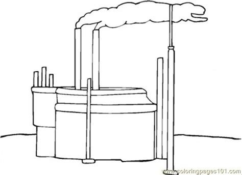 Coloring Pages Glass Factory Architecture Gt Buildings Factory Coloring Page