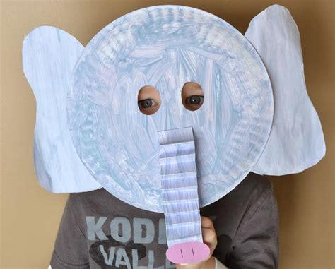 Paper Plate Mask Craft - ele paper plate mask allfreekidscrafts