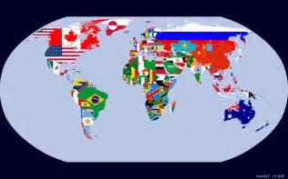 World Map Flags by Pics Photos Flags Of The World Map