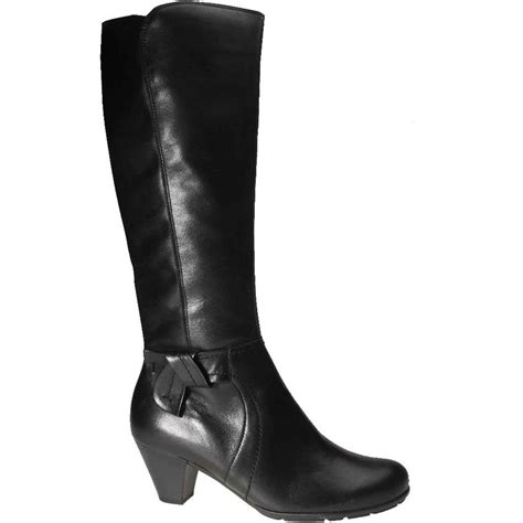 black boots gabor marissa leather black boots gabor shoes
