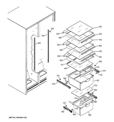 hotpoint refrigerator  series ice maker dispenser parts