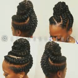 black hair styles with goddess braid or braid goddess braids updo ig getmanetamed goddess braids