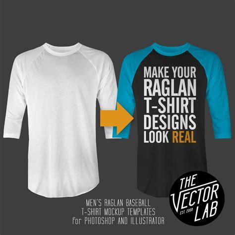 Men S Raglan T Shirt Mockup Templates Thevectorlab Baseball Shirt Designs Template
