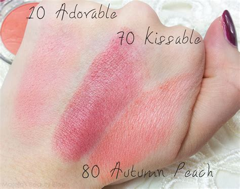 Blush On Silky essence silky touch blushes in adorable kissable and