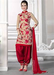 Stylish patiala salwar kameez dresses collection designs 2015 for teen