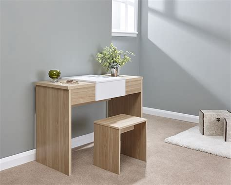 White Furniture With Oak Top by Marlow Dressing Table Set Oak White Top Amc Furniture