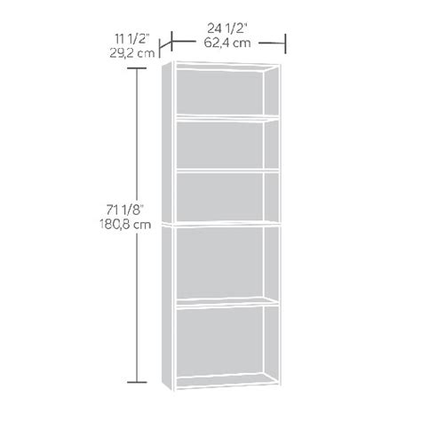 sauder beginnings 5 shelf bookcase sauder beginnings 5 shelf bookcase soft white boscov s