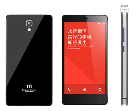 redmi  mirror glass panel  metal frame black case