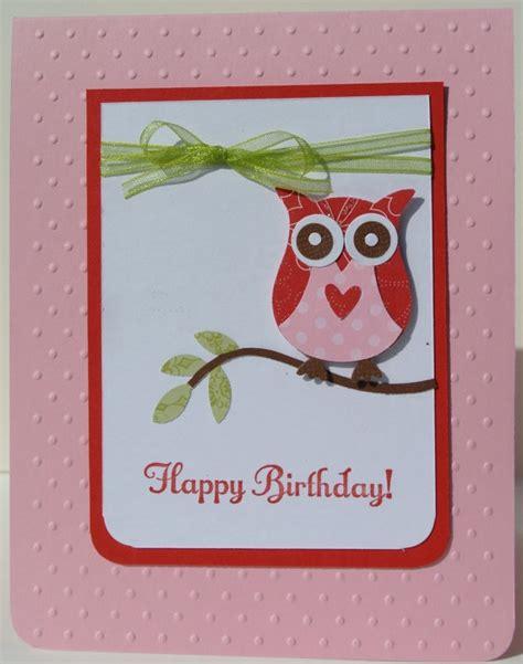 Handmade Cards Stin Up - owl birthday card stin up handmade by beingacreativemom