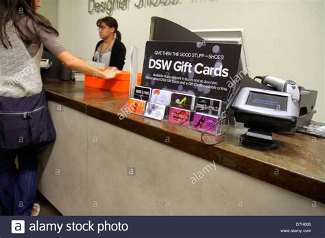 Sell Dsw Gift Card - miami florida shopping dsw designer shoe warehouse store gift cards stock photo
