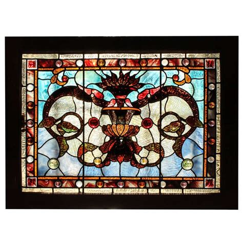 Small Stained Glass Ls by Small Stained Glass Window Panel At 1stdibs