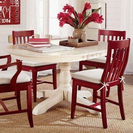 paint dining table and chairs with rust oleum 2x cranberry color with white seat pad interior