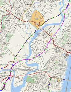 map of the new jersey turnpike eastern spur i 95 eastern