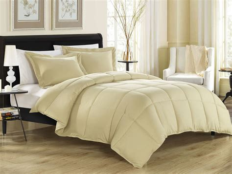 khaki down alternative comforter set
