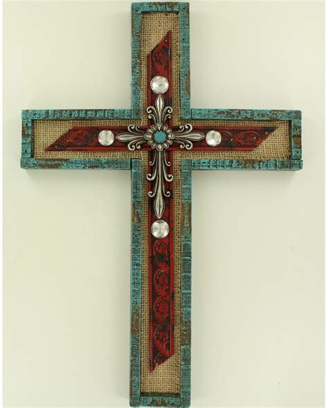 m f western products 174 home decor wall cross fort brands