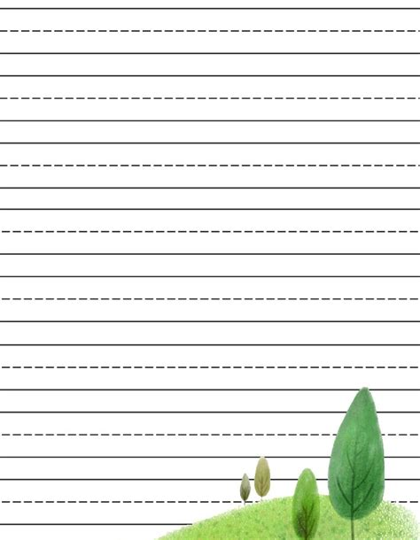 elementary lined paper for kinder thru third grade a wellspring