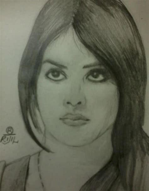 sketch of indian actress genelia d souza desipainters com