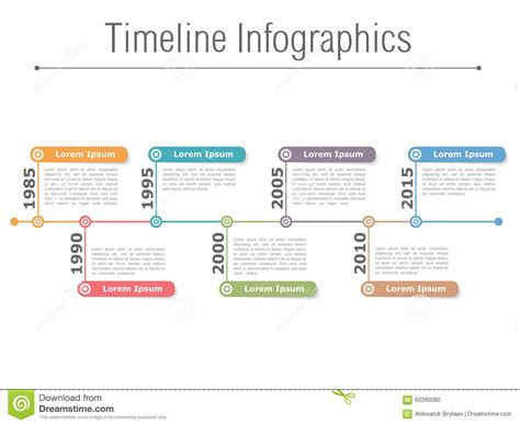 timeline infographics stock vector image 60390080