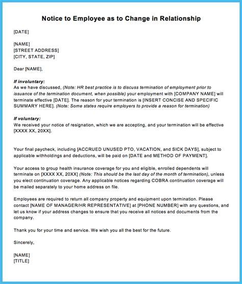 sample termination letter to employee oyle kalakaari co