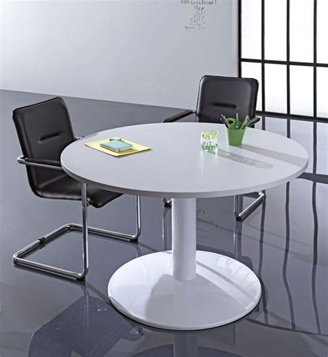 Buro Table by Buro Circular Tables Metal Base 1000mm Diameter