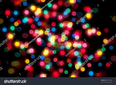 christmas lights out of focus stock photo 65163091