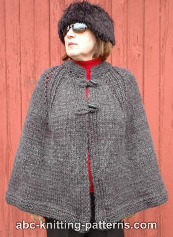 free knitting patterns for ponchos or capes abc knitting patterns highlands cape